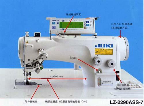 juki缝纫机穿线图解